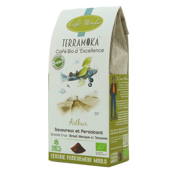 Terra Moka Arthur - café moulu bio Arabica et Robusta - Paquet de 250g