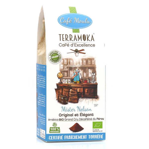 Terra Moka Nelson - café moulu Arabica du pérou décaféiné et bio - Paquet de 250g