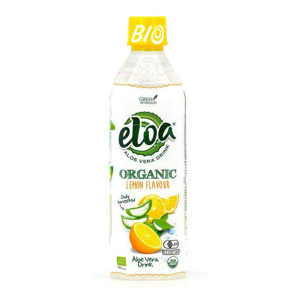 Eloa - Aloe Vera Drink Eloa & citron jaune - boisson bio à l'aloe vera - 12 bouteilles de 50cl