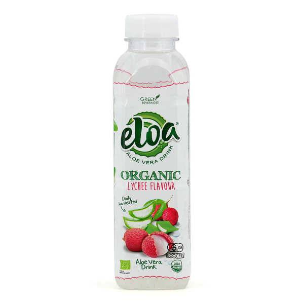 Eloa - Aloe Vera Drink Eloa & Litchi - boisson bio à l'aloe vera - 6 bouteilles de 50cl