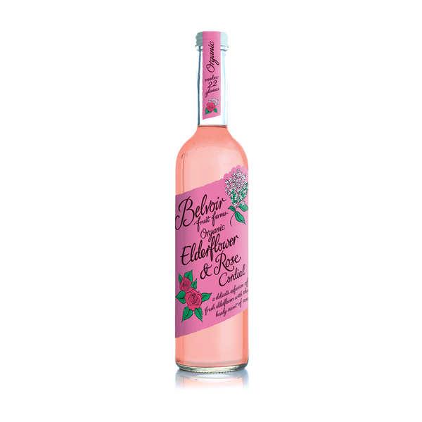 Belvoir Sirop artisanal à la fleur de sureau et rose - Belvoir - 3 bouteilles de 500ml