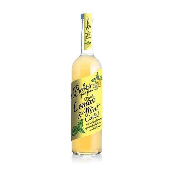 Belvoir Sirop de citron à la menthe bio - Belvoir - 3 bouteilles de 500ml