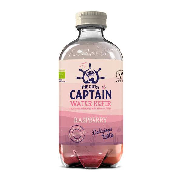 The Gutsy Captain Kombucha Kéfir d'eau bio Framboise - Captain Kombucha - 3 bouteilles de 40cl