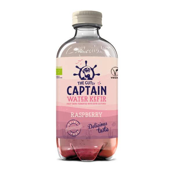 The Gutsy Captain Kombucha Kéfir d'eau bio Framboise - Captain Kombucha - Bouteille de 40cl