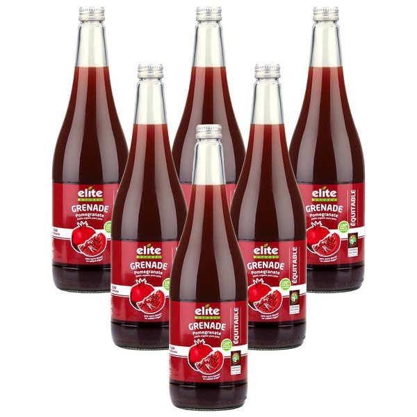 Elitegroup Pur jus de grenade bio offre promo 6 x 1L - Lot de 6 bouteilles de 1L