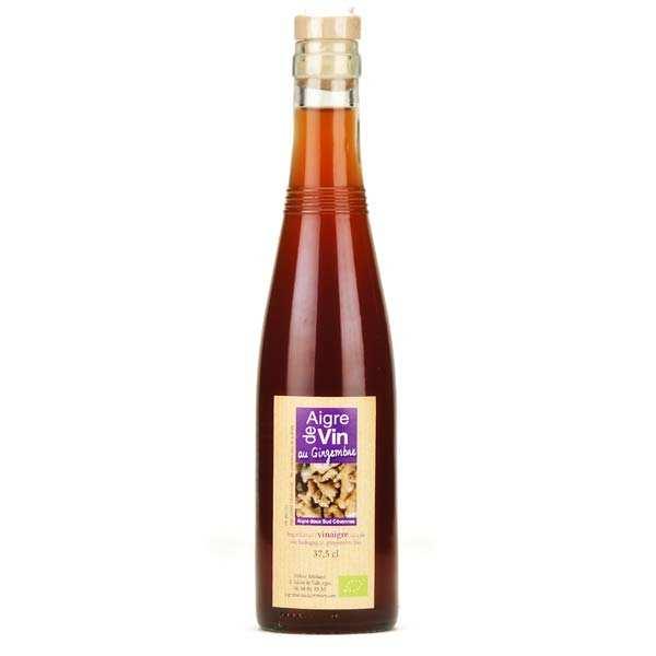 Aigre-doux Sud Cévennes Vinaigre artisanal au gingembre bio sans sulfites - Bouteille verre 37.5cl