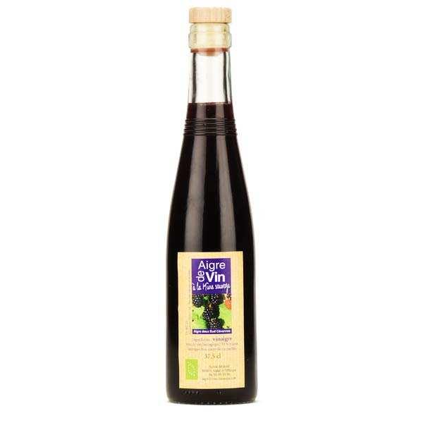 Aigre-doux Sud Cévennes Vinaigre artisanal à la mûre sauvage bio sans sulfites - Bouteille verre 37.5cl