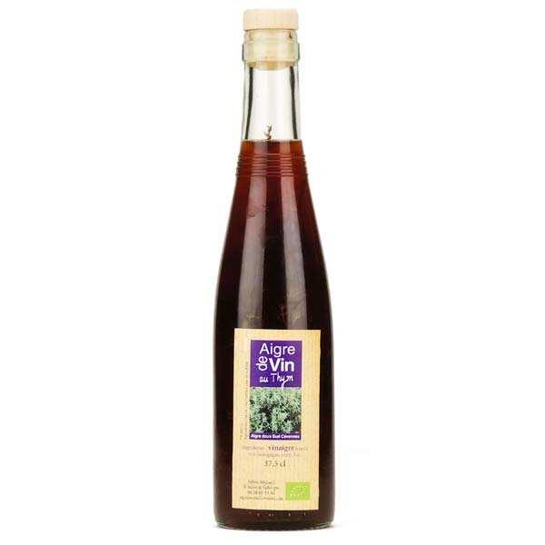 Aigre-doux Sud Cévennes Vinaigre artisanal au thym bio sans sulfites - Bouteille verre 37.5cl