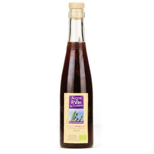 Aigre-doux Sud Cévennes Vinaigre artisanal au romarin bio - Bouteille verre 37.5cl