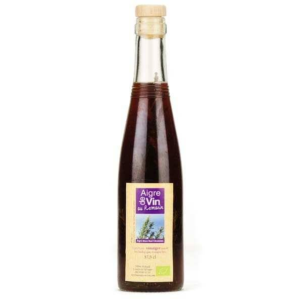 Aigre-doux Sud Cévennes Vinaigre artisanal au romarin bio sans sulfites - Bouteille verre 37.5cl