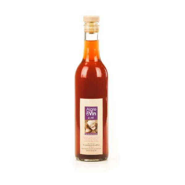 Aigre-doux Sud Cévennes Vinaigre artisanal à l'ail bio - Bouteille verre 37.5cl