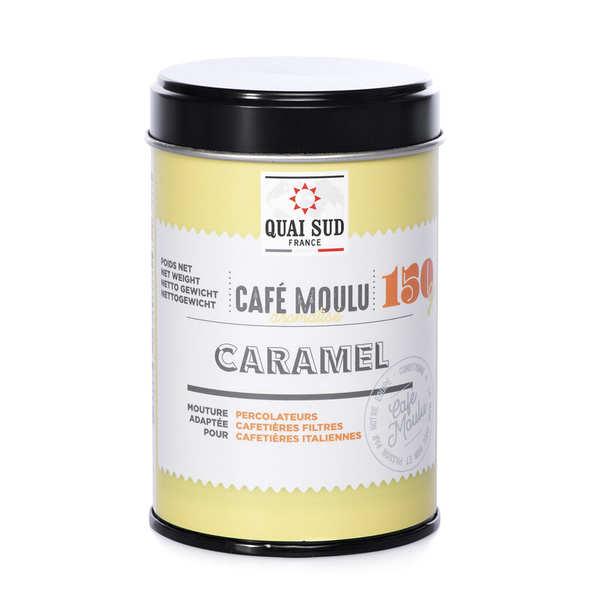 Quai Sud Café aromatisé caramel - Boite 150g