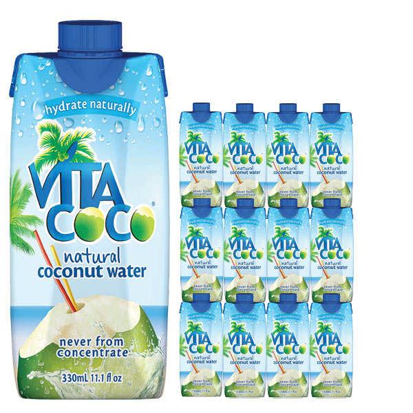 Vita coco - 100% pure eau de coco - Le lot de 12 bouteilles - Lot 12 bouteilles de 33cl