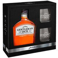 Jack Daniel's Gentleman Jack coffret whisky 2 verres - 40% - Bouteille 70cl et 2 verres <br /><b>46.95 EUR</b> BienManger.com