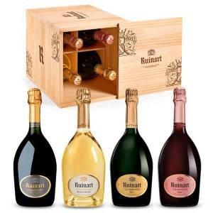 Ruinart Caisse Cave découverte - 4 Champagnes Ruinart - La caisse de 4 bouteilles 75cl - Publicité