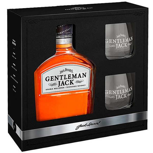 Jack Daniel's Gentleman Jack coffret whisky 2 verres - 40% - Bouteille 70cl et 2 verres