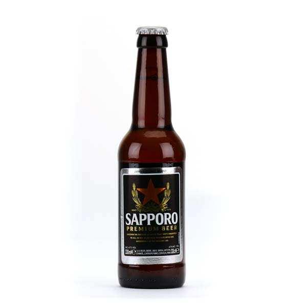 Sapporo Bière japonaise Sapporo - 5% - 6 bouteilles de 33cl