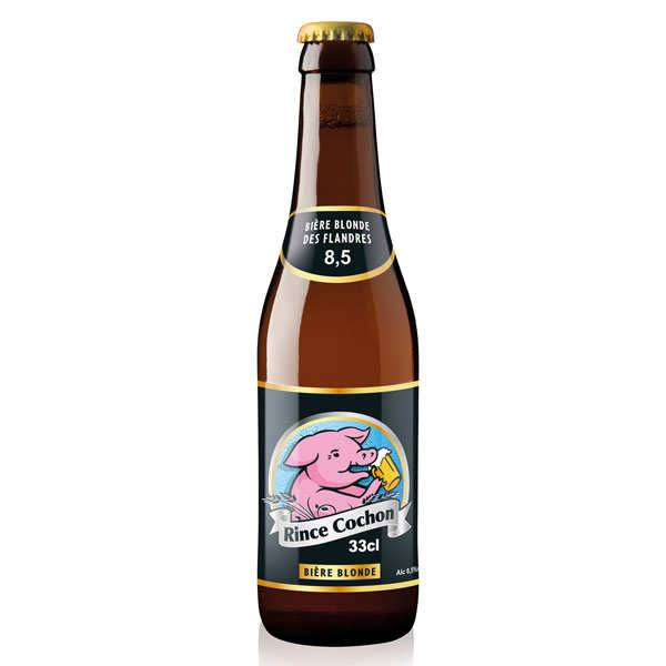 Rince Cochon - Bière belge blonde - 8,5% - Lot de 6 bouteilles 33cl