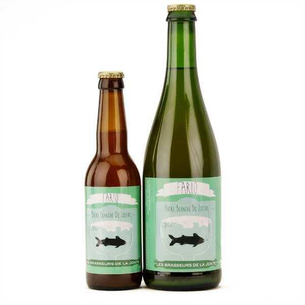 Les brasseurs de la Jonte Bière Fario de Lozère - Blanche 5% - Lot 3 bouteilles 75cl