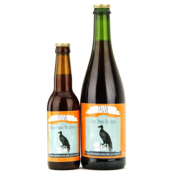 Les brasseurs de la Jonte Bière Fauve de Lozère - Ambrée 5.5% - Lot 3 bouteilles 75cl