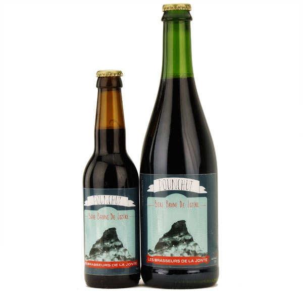 Les brasseurs de la Jonte Bière Pounchut de Lozère - Brune 6% - Lot 3 bouteilles 75cl