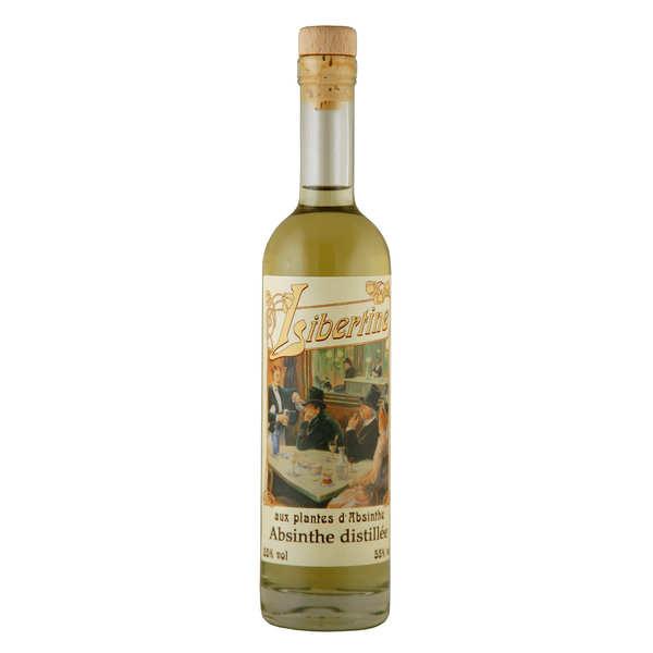 Distillerie Paul Devoille Libertine originale - spiritueux aux plantes d'absinthe - 55% - Bouteille 20cl