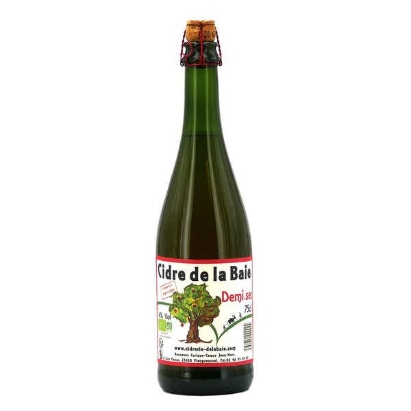 Cidrerie de la Baie Cidre fermier Breton bio demi sec 5% - Carton 6 bouteilles 75 cl