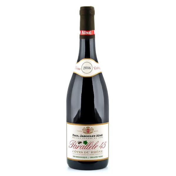 Paul Jaboulet Aîné Côtes du Rhône vin rouge Parallèle 45 Bio - 2019 - Bouteille de 75cl