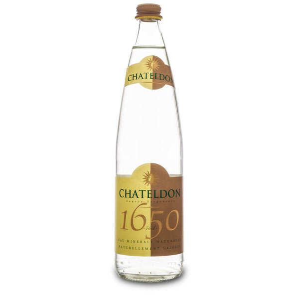 Chateldon - Eau gazeuse d'Auvergne - Bouteille verre 75cl
