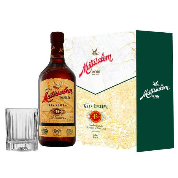 Matusalem Coffret cadeau Rhum Matusalem 15 ans 1 verre - Coffret bouteille 70cl + 1 verre