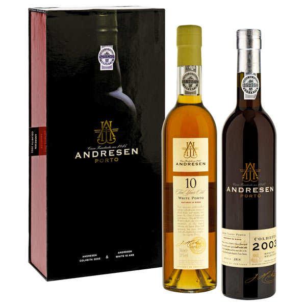 Portos Andresen Coffret Porto Andresen 2 bouteilles (white 10ans+ Colheita 2003) - Coffret 2x50cl
