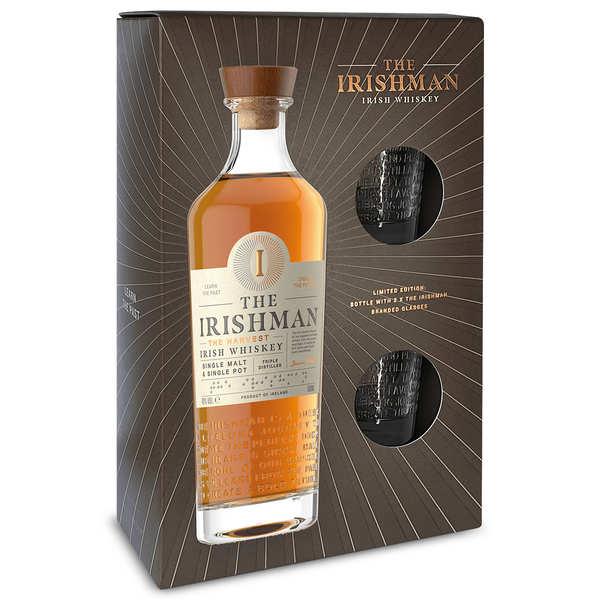 The Irishman Founder's Reserve coffret whisky irlandais 2 verres - Coffret 70cl 2verres