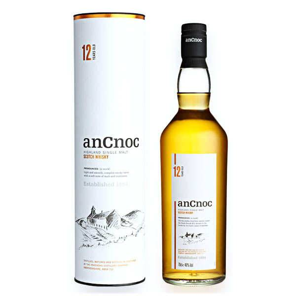 Knockdhu - AnCnoc Whisky AnCnoc 12 ans single malt 40% - Bouteille 70cl en étui