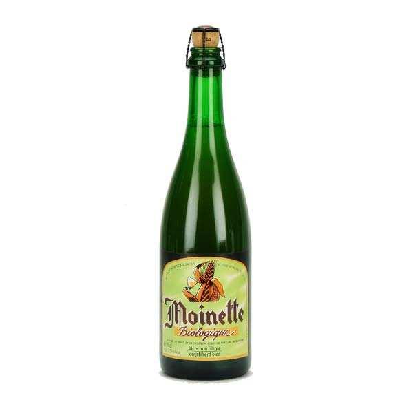 Brasserie Dupont Bière blonde non filtrée Moinette Bio - 7,5% - Lot 6 bouteilles 75cl