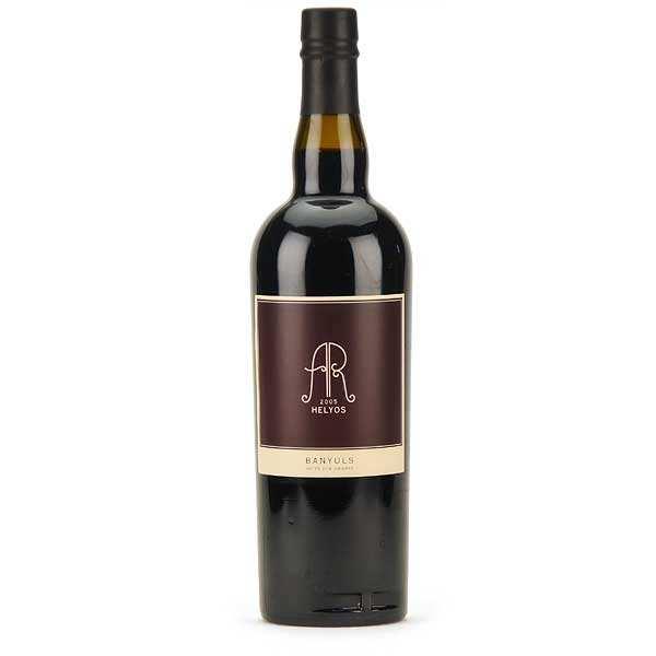 La cave Abbé Rous Helyos - Banyuls muté sur grains - Vin rouge - 2005 - Caisse bois de 6 bouteilles 75cl