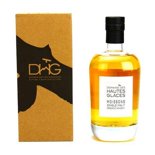 Domaine des Hautes Glaces Les Moissons - Whisky single malt biologique - 44.8% - Bouteille 70cl en étui