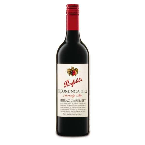 Penfolds Koonunga Hill Shiraz Cabernet vin rouge - Penfolds - 2014 - 6 bouteilles 75cl
