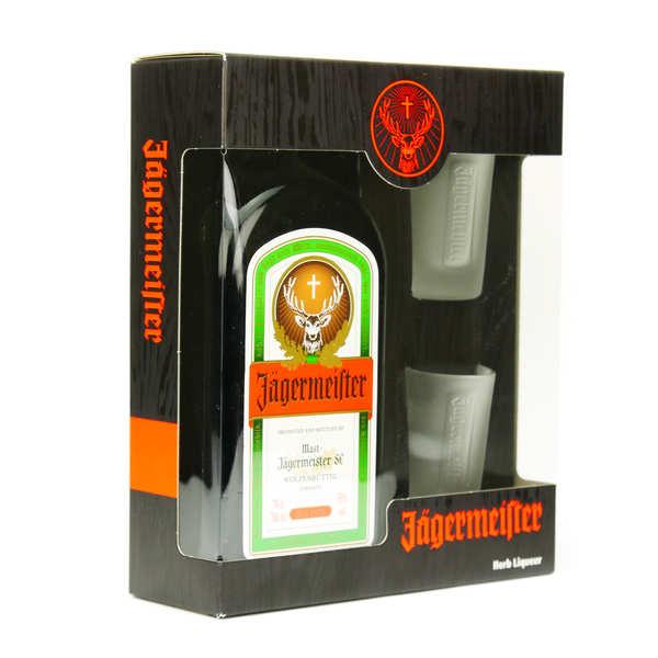 Jägermeister Coffret Jägermeister et ses 2 verres à shot - Bouteille 70cl + coffret