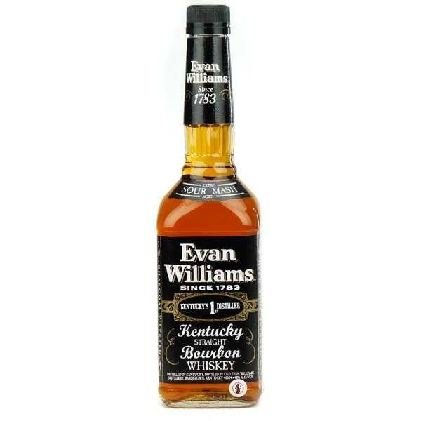 Evan Williams Distillery Bourbon Evan Williams Black Label - Kentucky Straight Bourbon Whisky - 43% - Bouteille 70cl