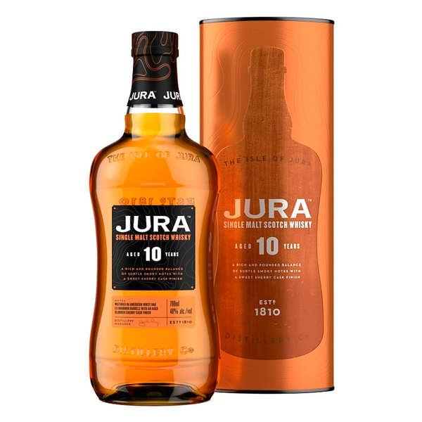 Jura Whisky Single Malt Jura 10 ans 40% - Bouteille 70cl et son étui