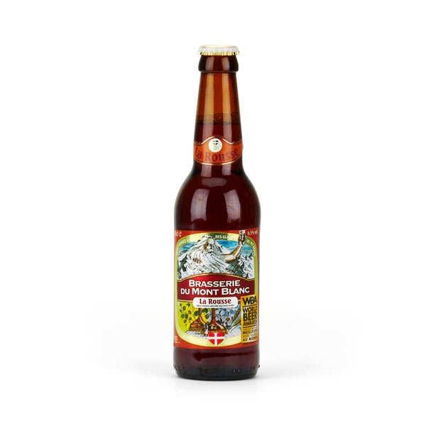 Brasserie du Mont Blanc Rousse du Mont Blanc - Bière française 6.5% - Lot de 12 bouteilles de 33cl