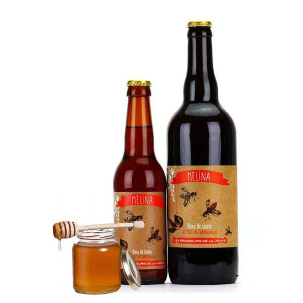 Les brasseurs de la Jonte Bière Mélina de Lozère - Blonde au miel 5.5% - Lot de 3 bouteilles 75cl