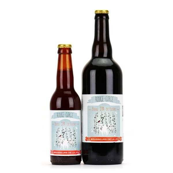 Les brasseurs de la Jonte Bière Rouge Gorge de Lozère - Rousse IPA 7% - Lot de 6 bouteilles 33cl