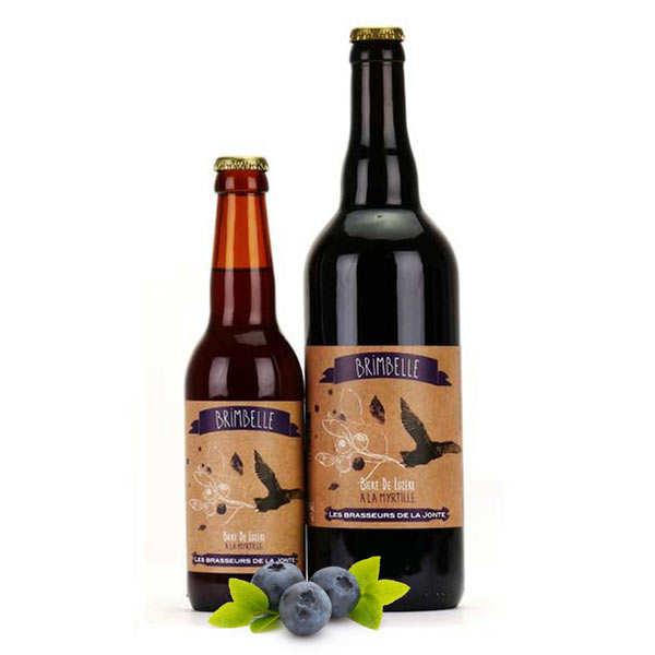 Les brasseurs de la Jonte Bière Brimbelle de Lozère - Blanche à la myrtille 5% - Lot de 6 bouteilles 33cl