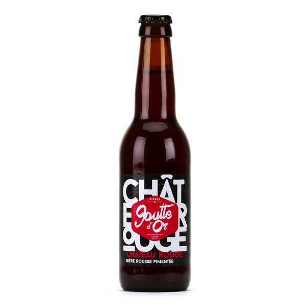 Brasserie de la Goutte d'Or Château Rouge - Bière rousse pimentée 6% - Bouteille 33cl