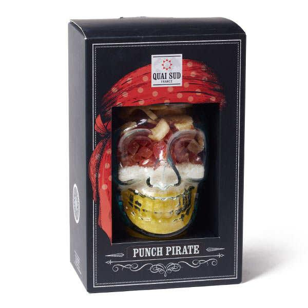 Quai Sud Mélange Punch Pirate en coffret - papaye, coco, ananas - Mason Jar + mélange pour 1L