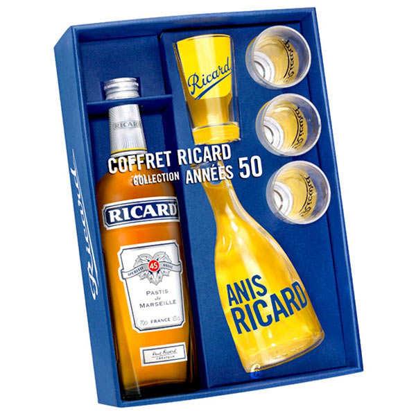 Ricard Coffret Ricard Collection Années 50 - Bouteille 70cl, 1 carafe et 4 verres