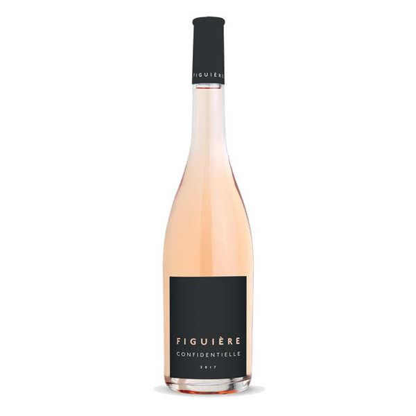 Figuière - Famille Combard Figuière Confidentielle vin Rosé - Côtes de Provence La Londe bio - 2019 - 6 bouteilles de 75cl