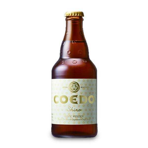 Brasserie Coedo Coedo Shiro – bière blanche (hefeweizen) japonaise 5,5% - 24 bouteilles de 33cl
