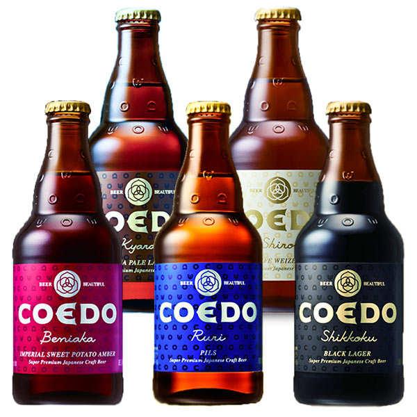 Brasserie Coedo Assortiment de bières japonaises Coedo - 5 bouteilles de 33cl
